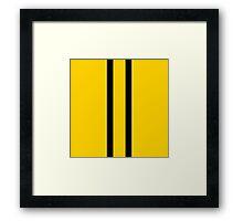 Bruce Bee Bumble Lee Stripes Framed Print