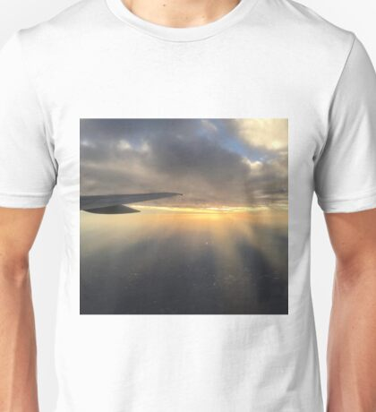 Sun Rays and Clouds at Sunset Unisex T-Shirt