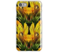 Abstract Yellow Daisy Flowers Design iPhone Case/Skin