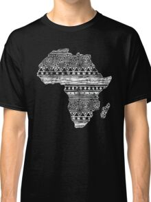 Patterned Map of Africa  Classic T-Shirt