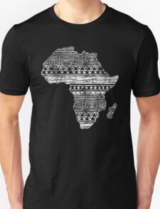 Patterned Map of Africa  Unisex T-Shirt