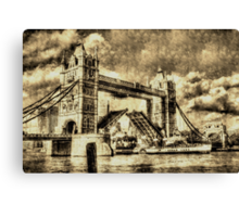 Tower Bridge Vintage Canvas Print
