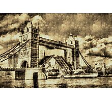 Tower Bridge Vintage Photographic Print