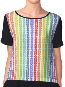 rainbow plait seamless pattern Chiffon Top