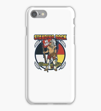 Standing Rock No DAPL Native Indian Warrior Protest iPhone Case/Skin