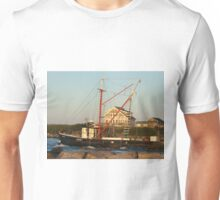Galiee, rhode island beach fishing boat leaving Unisex T-Shirt