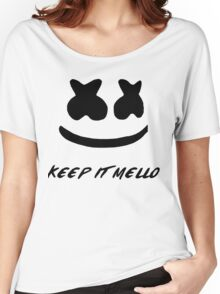 Marsmello Face Women's Relaxed Fit T-Shirt