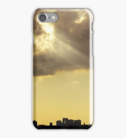 Clouds over New York City  iPhone Case/Skin