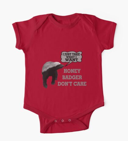 Honey Badger Takes What It Wants One Piece - Short Sleeve