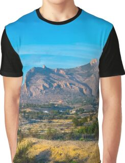 Mountain panorama with trees  Graphic T-Shirt