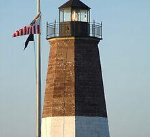 point judith lighthouse rhode island by Maureen Zaharie
