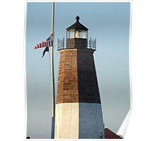 point judith lighthouse rhode island Poster