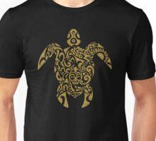 Gold Glitter Tribal Turtle Unisex T-Shirt