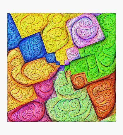 Asymmetry of color foam #DeepDream Photographic Print