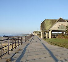 scarborough beach sunrise boardwalk by Maureen Zaharie