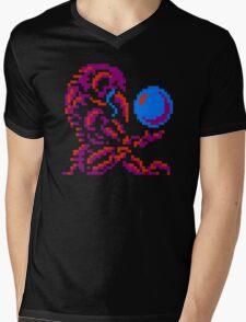 Metroid Chozo - Pink on Black Mens V-Neck T-Shirt