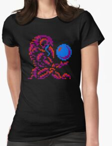 Metroid Chozo - Pink on Black Womens Fitted T-Shirt