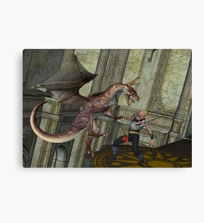 Dragon Attack Canvas Print