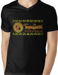 Tapu Cocoa - Distressed Logo Mens V-Neck T-Shirt