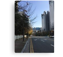 Haeundae, Busan, South Korea, on a clear day in winter Canvas Print