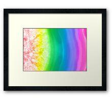 Rainbow colors agate slice mineral Framed Print
