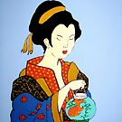 Geisha with Fish by Shulie1