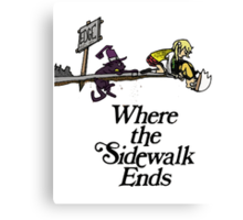 Soul Eater Where the sidewalk ends Canvas Print