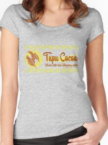 Tapu Cocoa Logo Women's Fitted Scoop T-Shirt