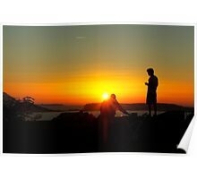 .. watching a breathtaking sunset over the sea ~ 2 Poster