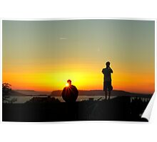 .. watching a breathtaking sunset over the sea ~ 1 Poster