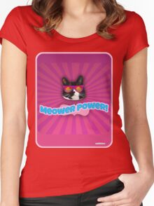More Meower Power Women's Fitted Scoop T-Shirt