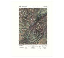 USGS TOPO Map Colorado CO Gore Pass 20110210 TM Art Print