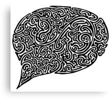 Speech Bubble Canvas Print