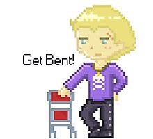 Get Bent pixel Photographic Print