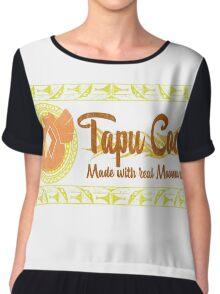 Tapu Cocoa - Distressed Logo 2 Chiffon Top