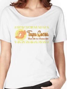 Tapu Cocoa - Distressed Logo 2 Women's Relaxed Fit T-Shirt
