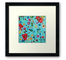 Bloom field Framed Print