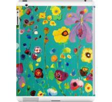 Bloom field - Turquoise iPad Case/Skin