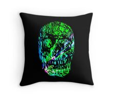 Spectrum Skull Throw Pillow