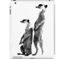 Clever Meerkat. Digital Wildlife Engraving Image iPad Case/Skin