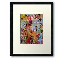 Pretty Patterns/orange Framed Print