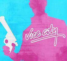 GTA Vice City Minimalistic Design by RobertNGraphics