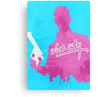 GTA Vice City Minimalistic Design Canvas Print