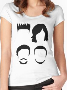 Bastille Hair Design with Dan Will Kyle and Woody Women's Fitted Scoop T-Shirt