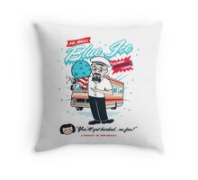 Mr. White's Blue Ice Throw Pillow