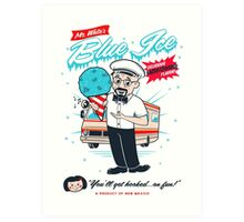 Mr. White's Blue Ice Art Print