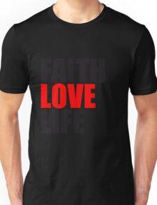 jesus cool faith love life leben glauben lieben liebe text schrift christus design rund könig  Unisex T-Shirt