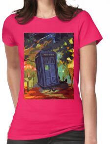 overwrite tardis Womens Fitted T-Shirt