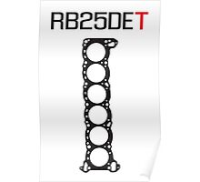RB25DET Engine Head Gasket design for a light shirt Poster