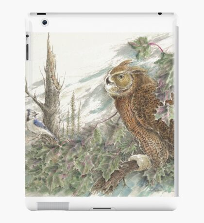 The Great Horned Owl iPad Case/Skin